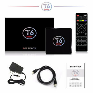 NEWEST ANDROID 7.1 TV BOX T6 S905X QUAD CORE KODI 17.1 LOADED