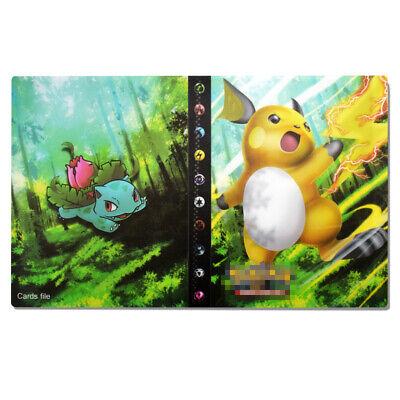 DIY Cards Holder 240 Pokemon Cards Album Binder Folder Book List Card Collectors