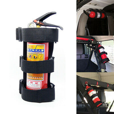 Adjustable Car Roll Bar Fire Extinguisher Holder Mount Safety Bracket Auto Fixed