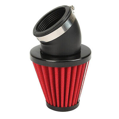 48mm Universal Motorcycle Racer Cold Air Inlet Intake Tapered Filter Cleaner Red