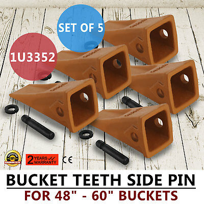 10 Pack 1U3352 Cat Style Digging Teeth Replacement Pins /& Retainers