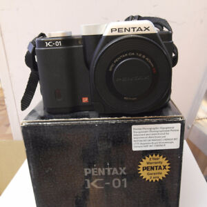 pentax k-01 with 40mm f2.8 lens