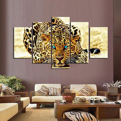 Modern Abstract Huge Art Oil Painting Wall Decor   Beautiful Cheetah Leopard
