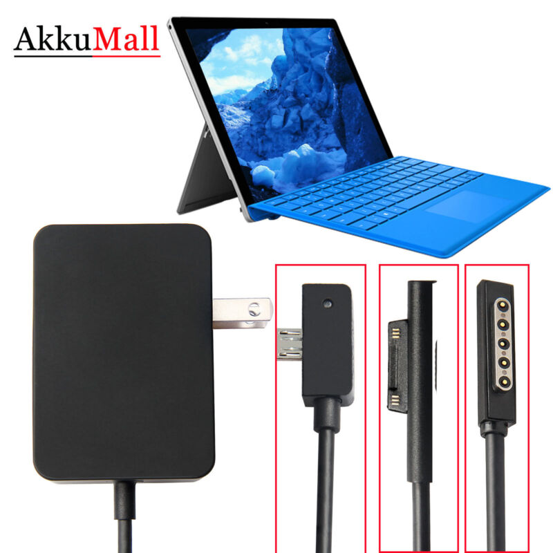 For Microsoft Surface Pro 3 Pro 4 1626 AC Adapter Charger Cord Power Supply 36W