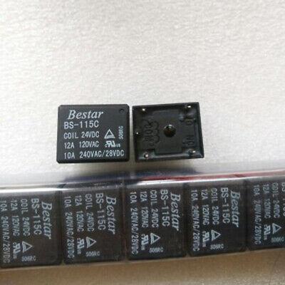 Bs-115c 24vdc Bestar Reed Relay 24v 12a 5pins Srd-24vdc-sl-c T73-c-24vset Of 5