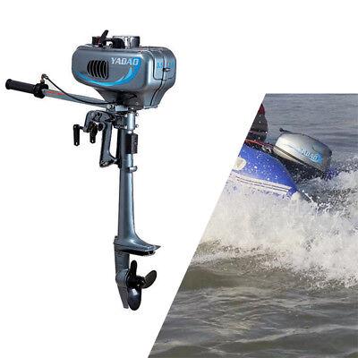 2 Takt Zweitakt Außenborder Benzinmotor 3.5PS Bootsmotor Wassergekühlt Motor DHL