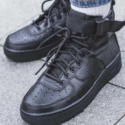 Nike SF AF1 MID Big Kids Shoes Black AJ0424-003 SIZE 6Y