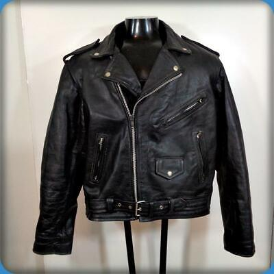 BIKER SKINS MOTORCYCLE Leather Biker JACKET Mens Size XL 48 Black insulated for sale  Shipping to India