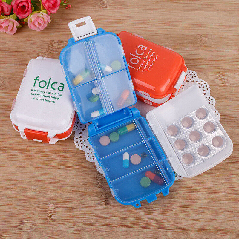 3 Layers Pill Box with 8 Compartments 7 day Travel Small Vit
