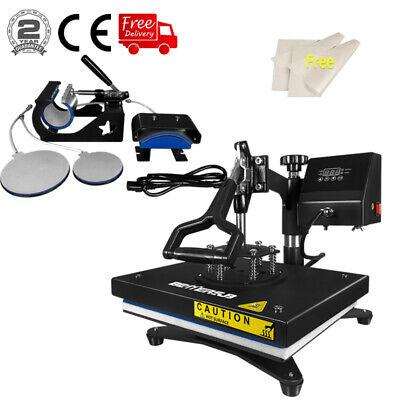 5 In 1 Heat Press Machine Digital Transfer Sublimaiton T-shirt Mug Plate Hat Cap