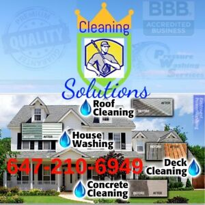CLEANING SOLUTIONS #1-DECKS-FENCES-SIDING-PWRWSHNG-STAINING-MORE