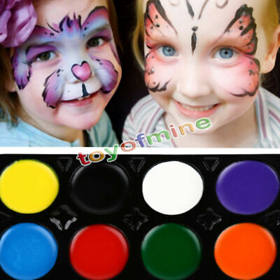 Halloween Make Up Set (8 Colours Make Up Face Paint Palette Fun Halloween Fancy Painting Kit)