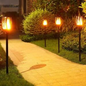 2X 96 LED Solar Garden Flame Torch Light Flicker Candle Solar Powered IP65 Waterproof Decorative Lamp