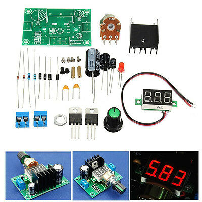 Lm317 Digital Display Adjustable Regulated Power Supply Board Module Diy Kits Ca