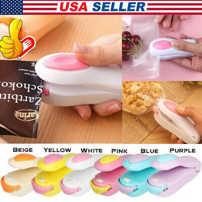 Portable Mini Heat Bag Sealer Sealing Machine Household Plastic Bag Cutter