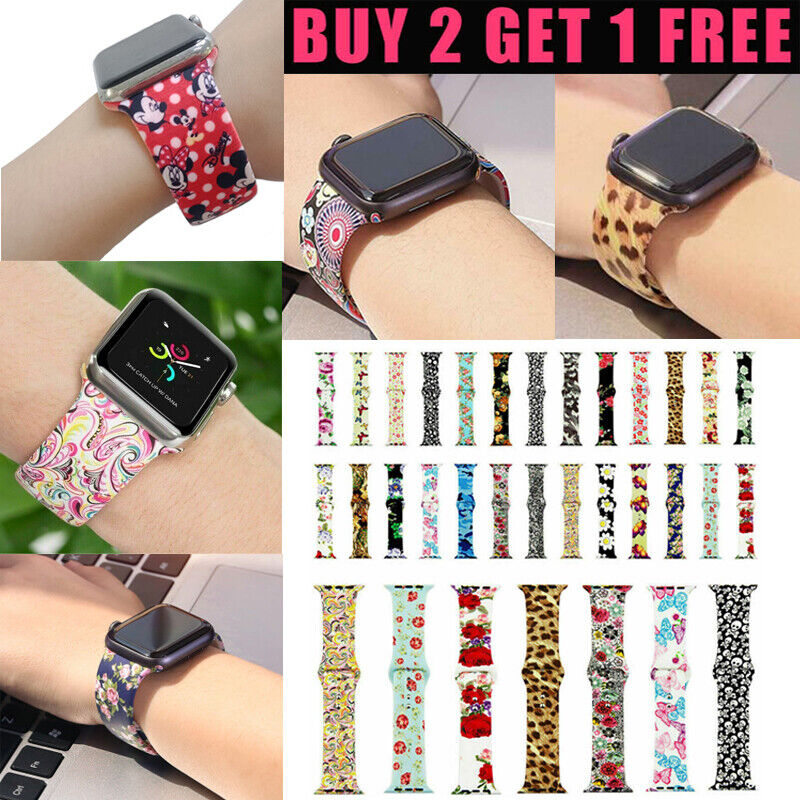 Silicone Sport Watch Band Strap For Apple Watch Series 5 4 3 2 1 42/44mm 38/40mm