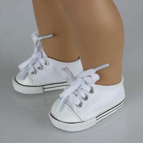 手工制作的时尚帆布鞋18inch美国女孩娃娃可爱的宝贝