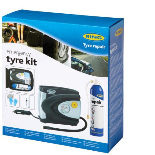 Ring RTK1 Emergency Tyre Compressor and Sealant Repair Kit for Car Van 4x4