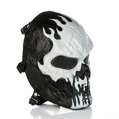 Skull Skeleton Full Face Eye Mask Tactical Paintball Protective Game Gear Safety