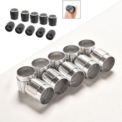 10pcs Black Metal 6mm Knurled Shaft Potentiometer Control Knobs Audio Knob Alloy