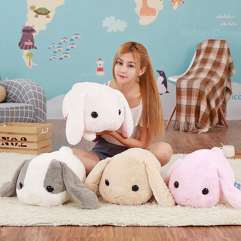 40Cm Big Long Ears Rabbit Plush Stuffed Bunny Pillow Cushion