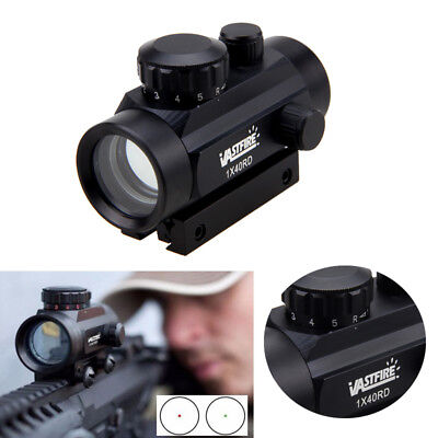 Green Red Dot Holographic Scope Rifle Airsoft 5MOA Sight Scope fit Weaver Rail G