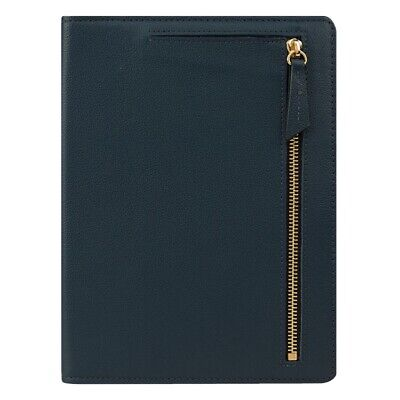 Rare Franklin Covey Kenzie Open Planner Binder Compact Blue Leather Pretty