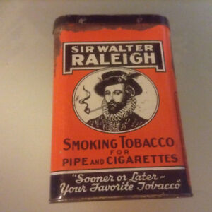 Rare Sir Walter Raleigh Tobacco Tin