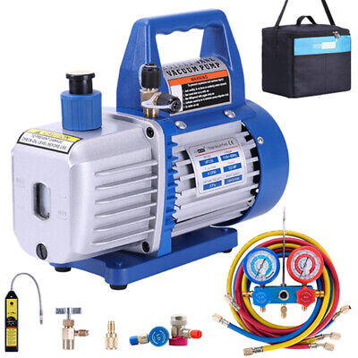 Vivohome 4cfm 13hp Air Vacuum Pump Hvac Refrigeration Ac Manifold Gauge R134a
