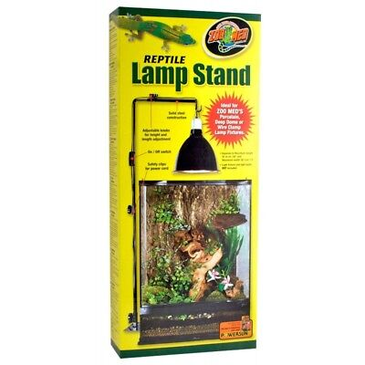 "Zoo Med Reptile Lamp Stand Large for 20-100 Gallon Tanks (Max 15""L x 38""H)"