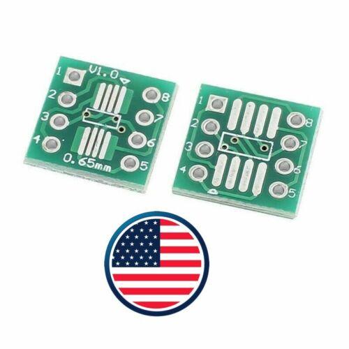 20-63 pcs SOP8 SO8 SOIC8 TSSOP8 MSOP8 to DIP8 Adapter PCB Converter Board Qnt