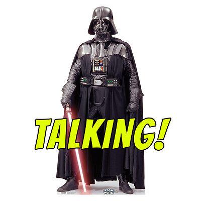 DARTH VADER TALKING Star Wars Lifesize CARDBOARD CUTOUT Standup Standee Poster - Darth Vader Cut Out