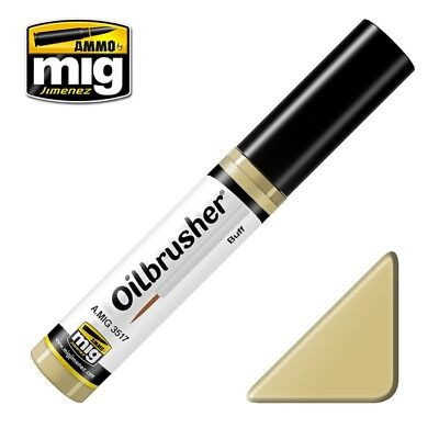 Ammo of Mig Oilbrusher Buff - Oil Paint with Fine Brush Applicator #3517, used for sale  Shipping to India