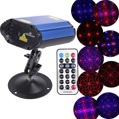 Mini Projector Voice Control Club Disco Laser Party Licht Bühnenbeleuchtung DHL