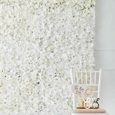 1 Blumenwand Photo Booth Hintergrund weiße Blüten | Hochzeit Fotobox Photo Booth (Photo Booth Hintergrund)