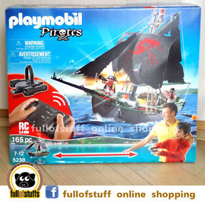 Playmobil R/C Remote Control Pirates Ship Toy ~ 5238 ~