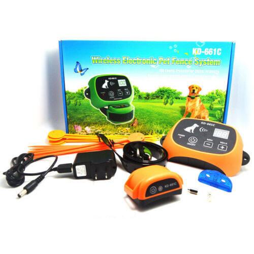Wireless Rechargeable 1-2-3 Dog Fence No-Wire Pet Containmen