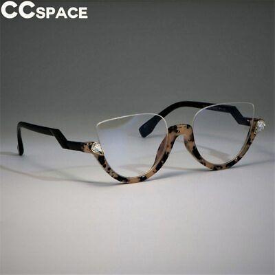 WOMEN HALF CAT EYE GLASSES FRAMES TRENDING STYLES FASHION COMPUTER (Trending Eyeglass Frames)