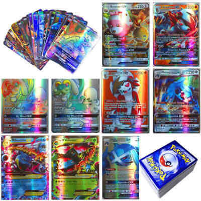 NEW 120Pcs Pokemon Cards 115 GX + 5 MEGA Holo Flash Trading Card Bundle Mixed US
