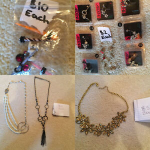 Earrings, necklaces and body jewlery