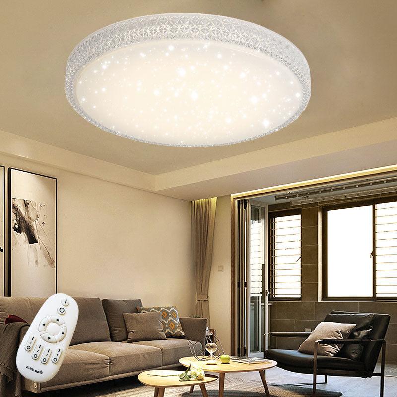 48w led deckenleuchte sternen himmel effekt kristall deckenlampe wohnzimmer neu ebay - Deckenlampe wohnzimmer led ...