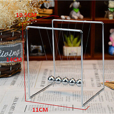 New Newtons Cradle Steel Balance Balls Desk Physics Science Pendulum Desk Toy