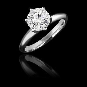 Bague de fiançailles 1.55CT Classic Diamond Engagement Ring