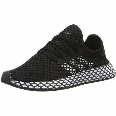 adidas Originals Deerupt Runner J Black/White Mesh Junior Trainers Shoes