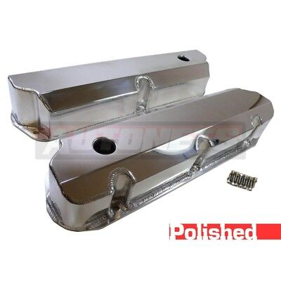 Small Block Ford Fabricate Polished Aluminum Valve Covers 289 302 351W Tall SBF
