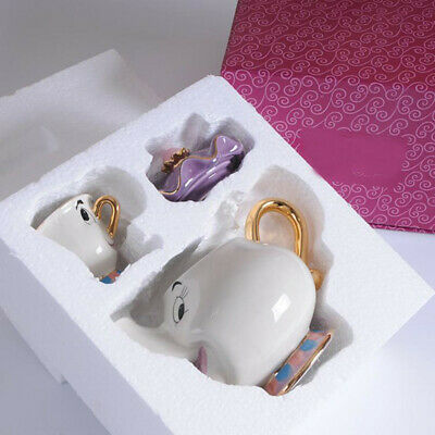 Cute Beauty And The Beast Teapot Mrs Potts Chip Tea Pot Cup One Set Xmas Gifts - Ceramic Tea Pot