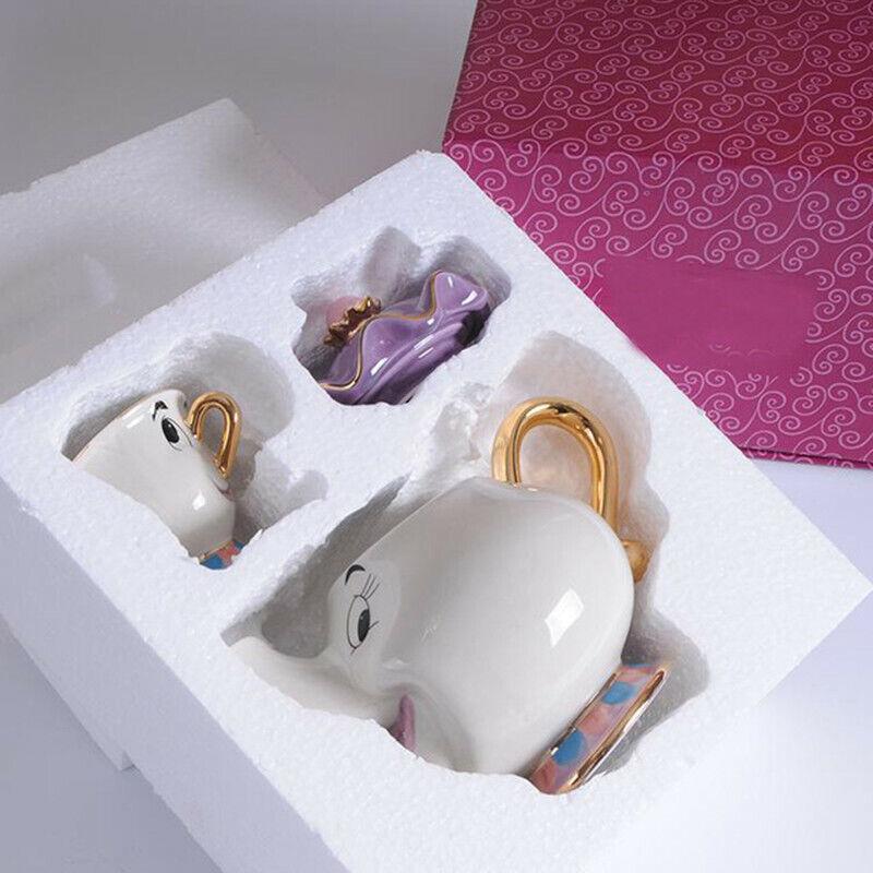 Cute Beauty And The Beast Teapot Mrs Potts Chip Tea Pot Cup