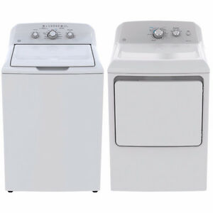 GE 4.4 Cu. Ft.Top Load Washer & 7.2 Cu.Ft. Electric Dryer(white)