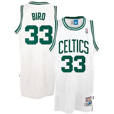 Boston Celtics Larry Bird #33 White Classics Throwback Basketball Jersey ()