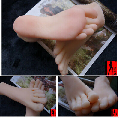 Lifisize 11 Silicone Feet Model Portable Mannequin Foot Shoe Display Prop 1pcs